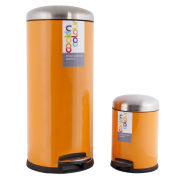 Cook In Colour Soft Close Pedal Bins (30L and 5L) - Orange
