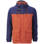 Brave Soul Men's Defence Jacket - Rust/Royal