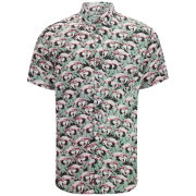 nANA jUDy Men's Hotel Parrot Short Sleeved Shirt - Pink/Green