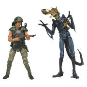 NECA Aliens Hicks Vs Battle Damaged Blue Warrior Action Figure 2-Pack