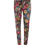 Love Moschino Women's Printed Flower Skinny Jeans - Multi