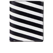 WANT Les Essentiels de la Vie Men's Bradley Bi-Fold Wallet - Diagonal Stripe/Black