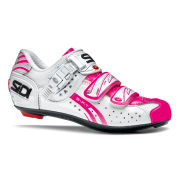 Sidi Women's Genius 5 Fit Carbon Vernice Cycling Shoes - White/Pink Fluo  - 2015