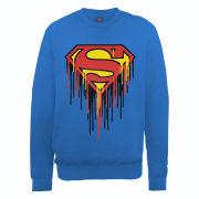 DC Comics Sweatshirt Superman Drip Logo - Royal Blue
