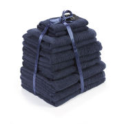 100% Egyptian Cotton 10 Piece Towel Bale (550gsm) - Navy
