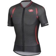 Castelli Climber's 2.0 Full Zip Jersey - Black/Red