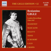 The Gigli Edition Volume 12 - London Recordings 1946 - 1947