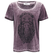 Vero Moda Women's Moog Burnout T-Shirt - Winetasting