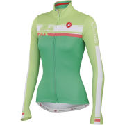 Castelli Women's Palma Long Sleeve Full Zip Jersey - Green/Lime