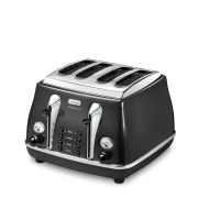 De'Longhi Icona Micalite 4 Slice Toaster - Black