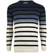 Jack & Jones Men's Karl Stripe Pattern Combo Knit - Cloud Dancer