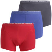 Bjorn Borg Men's 3 to Go Seasonal Boxer Shorts - True Red