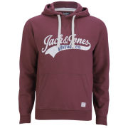Jack & Jones Men's Vintage Access Hooded Sweatshirt - Burgundy