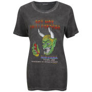 Prince Peter Women's Red Hot Chili Peppers T-Shirt - Vintage Black