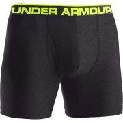 Under Armour Men's The Original 6 Inch Boxerjock - Carbon Heather/Black/High-Vis Yellow