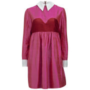 House of Holland Women's Aurora Longsleeve Dress with Collar - Pink