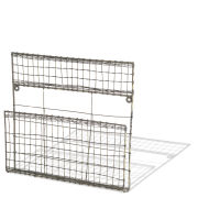 Eku Post Rack - Distressed Grey / Cream - 29cm(H) x 29.5cm(W) x 5.5cm(D)