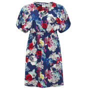 Vero Moda Women's Flower Joe Tunic Dress - Navy