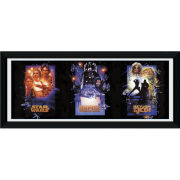 "Star Wars Triptych - 30"""" x 12"""" Framed Photographic"