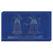 Doctor Who Blueprint - 30 x 55cm Value Canvas