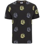 Billionaire Boys Club Men's 'All Over Helmet' Cotton T-Shirt - Black