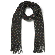 Paul Smith Accessories Women's Double Faced Swirl Spot Scarf - Black