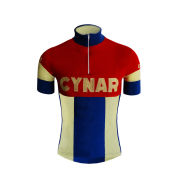 Pella Cynar Team Replica Woolen Jersey - Red/Yellowith Blue