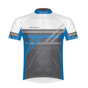 Primal Reverb Blue Short Sleeve Jersey - White/Blue/Grey