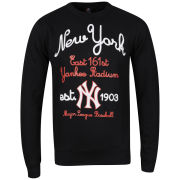Majestic Men's Yankees Broome Crew Neck Sweatshirt - Black