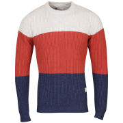 Category A by Weekend Offender Men's Dublin Knit - Navy/Rust/Cream