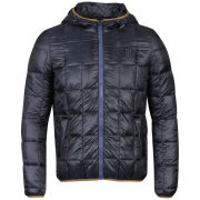 Antony Morato Men's Quilted Hooded Jacket - Night Blue
