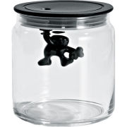 Alessi Gianni Black Storage Jar - 12cm