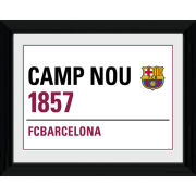 "Barcelona Street Sign - 16"""" x 12"""" Framed Photographic"