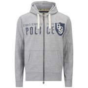 883 Police Men's Yoshi Zip Through Sweatshirt - Grey Marl
