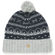 Farah Vintage Men's Mantle Fairisle Hat - Rain Heather
