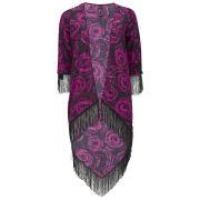 Influence Women's Tassel Kimono - Pink