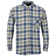 Brave Soul Men's Bate Long Sleeve Shirt - Ecru