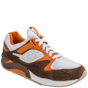 Saucony Men's Grid 9000 'White River' Trainers - White/Brown/Orange