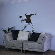 Banksy Man Throwing Flowers Vinyl Wall Decal