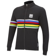 UCI Rainbow Fashion Line Long Sleeve Full Zip Jersey - Black