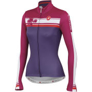Castelli Women's Palma Long Sleeve Full Zip Jersey - Violet/Magenta