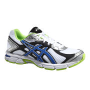Asics Men's Gel Pursuit 2 Cushioning Running Shoes - White/Blue/Emerald Green