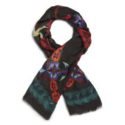 Lisa King Love, Braids and Chains Frayed Hem Scarf - Multi