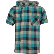 Humor Men's Robi Checked Shirt - Aqua