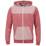 D-Code Men's Noah Loopback Zip Thru Sweatshirt - Red Salt & Pepper