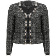 Maison Scotch Women's Stitched Blazer - Grey