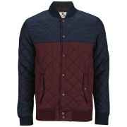 Brave Soul Men's Reaction Jacket - Burgundy/Navy