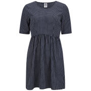 Vero Moda Women's Checked Alex Dress - Navy