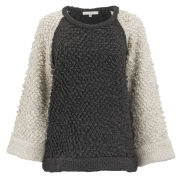 IRO Women's Wool Mix Oversized Jumper - Ecru/Grey