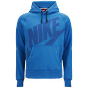 Nike Men's AW77 Logo Fleece Hoody - Light Photo Blue